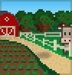 Background farmhouse