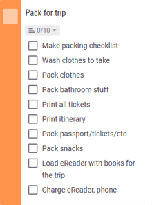 Nice compact checklist