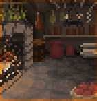 Background medieval kitchen