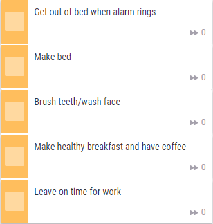 an example of a morning routine