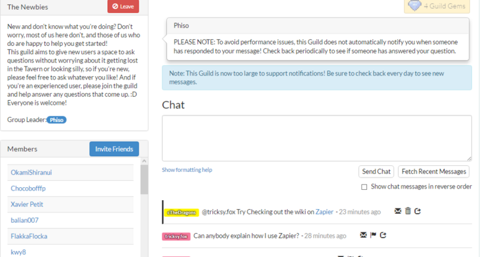 Zapier-SampleGuildChat FinalCorrespondingChat
