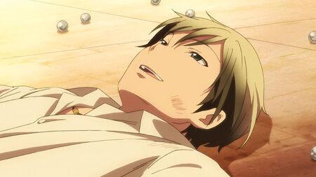 Kodaka, laying defeated