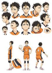 Nishinoya Character Design