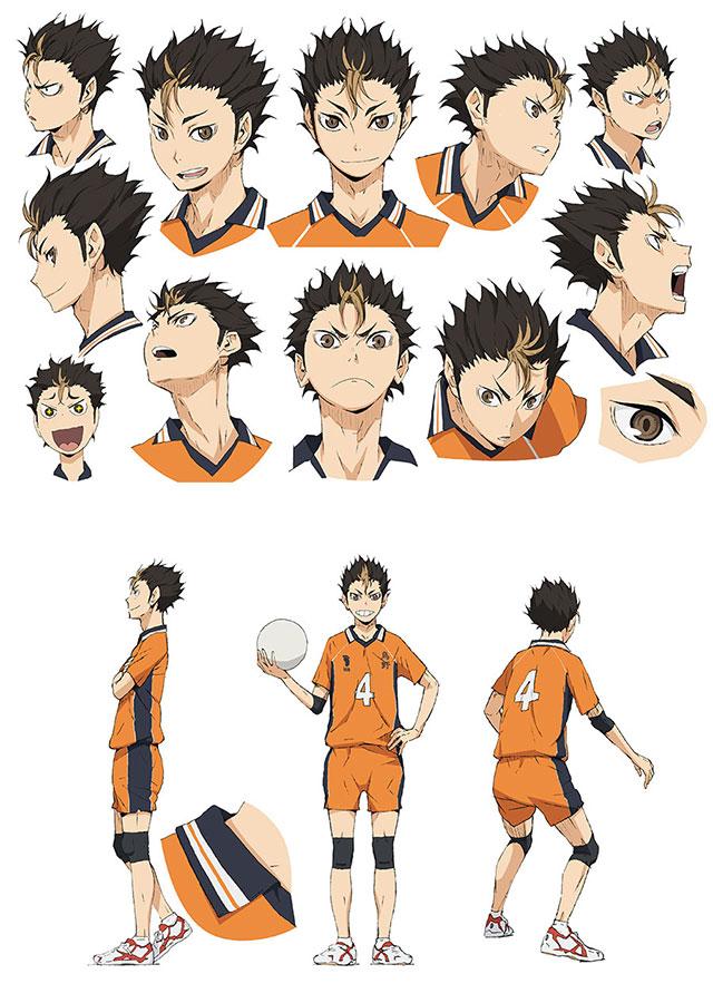 Character Design Wiki : Image nishinoya character design g haikyuu wiki