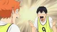 Kageyama i hinata cieszą się z udanego nowego ataku