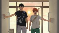 Hinata i kageyama docierają na obóz