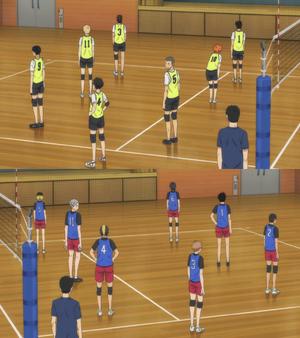 Karasuno kontra nekoma treningowy gaf anime