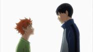 Hinata's conversation with Kageyama