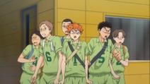 Yukigaoka en voyant leur adversaire