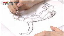 Furudate Haruichi demonstates drawing Hinata