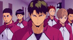 Drużyna shiratorizawa anime