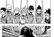 Karasuno's wary of Kita de captain coming in