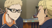 Tsukishima and Ukai s3-e9-1
