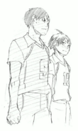 Kageyama and Yamaguchi Watching the Game
