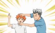 Hinata y Bokuto