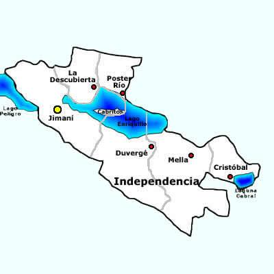 Independencia Province map