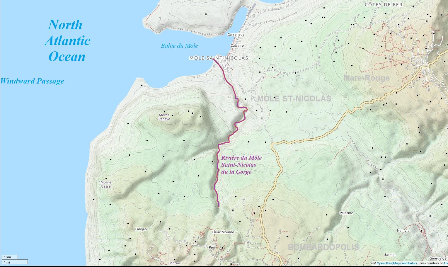 Rivière du Môle Saint-Nicolas du la Gorge | Haiti Local