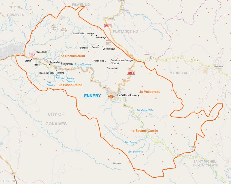 Ennery Map