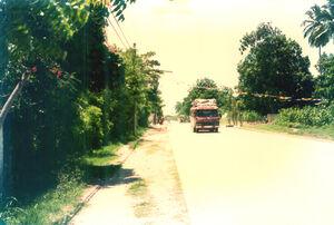 Route de Carrefour à Mariani en 1980