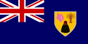 Turks and caicos flag large