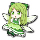 Green Frilly Fairy Sprite