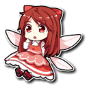 Red Frilly Fairy Sprite