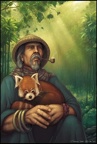 File:OLD MAN N RED PANDA painted by Grafik.jpg