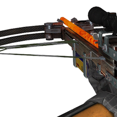Viewmodel. Strangely, the handle of the Crossbow is missing.