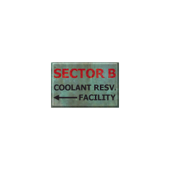 Sector B sign, as seen in Sector C.