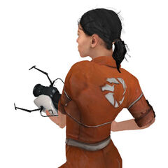 Chell and her Advanced Knee Replacements from the back.