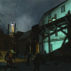 An early view of the Zombies in Ravenholm.