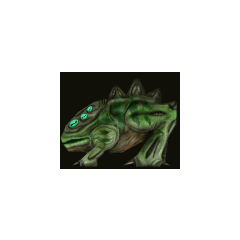 One of the various cut skins for a six-eyed Chumtoad.