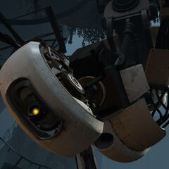 GLaDOS can often shape her eye with different emotions in <i>Portal 2</i>.