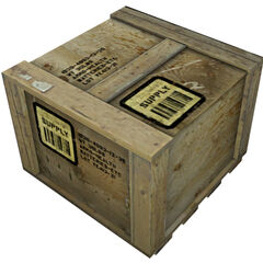 Standard supply crate model.