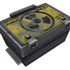 Depleted Uranium-235 box.