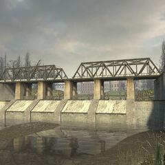 Railroad bridge in the Canals.