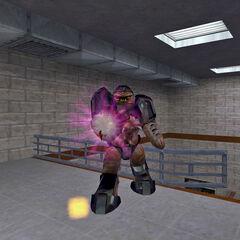 Alien Grunt firing its Hivehand.