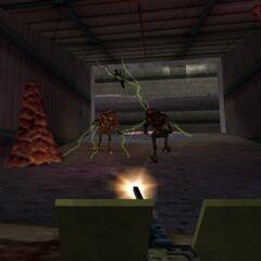 Gordon using the Machine Gun against <a href=