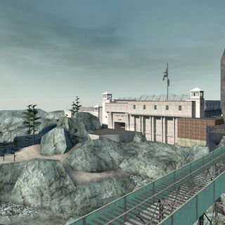 The early Depot and prison in the map