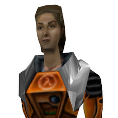 The Gina Cross-based Holographic Assistant model, as seen in <i>Half-Life</i> as the holograph, and in <i>Blue Shift</i> as Gina herself.