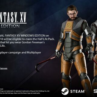 The HEV Suit found on the <i>Half-Life</i> Pack, available to early buyers of the Windows Edition of <i>Final Fantasy XV</i>.