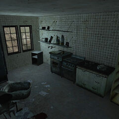 Kitchen in one of the buildings.