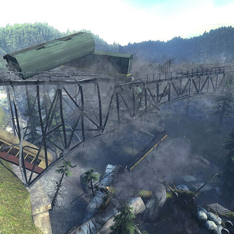 The same Portal Storm destroying the bridge where Gordon and Alyx's train was located.