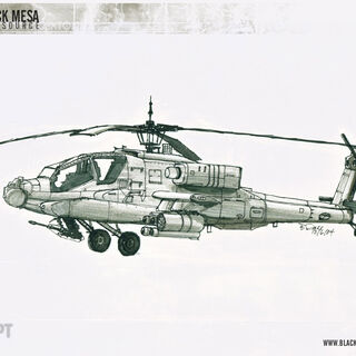 Concept art for the Apache.