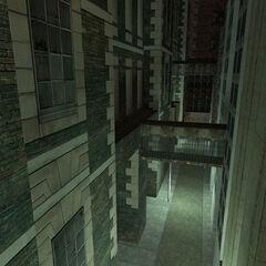 Streets and skywalks at the foot of Vertigo.