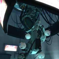 GLaDOS' appearance as seen in <i>Portal</i>.