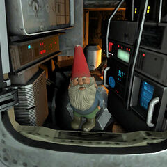 The Garden Gnome put in the rocket.