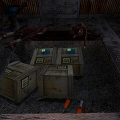 One of the rebel supply caches in the Outlands, featuring crates with attached transponders.