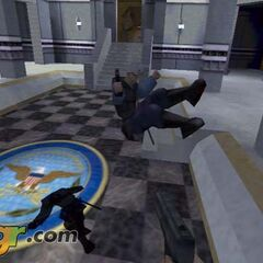 Second version, jumping and shooting at the player.