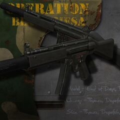 Silenced MP5 Submachine Gun.